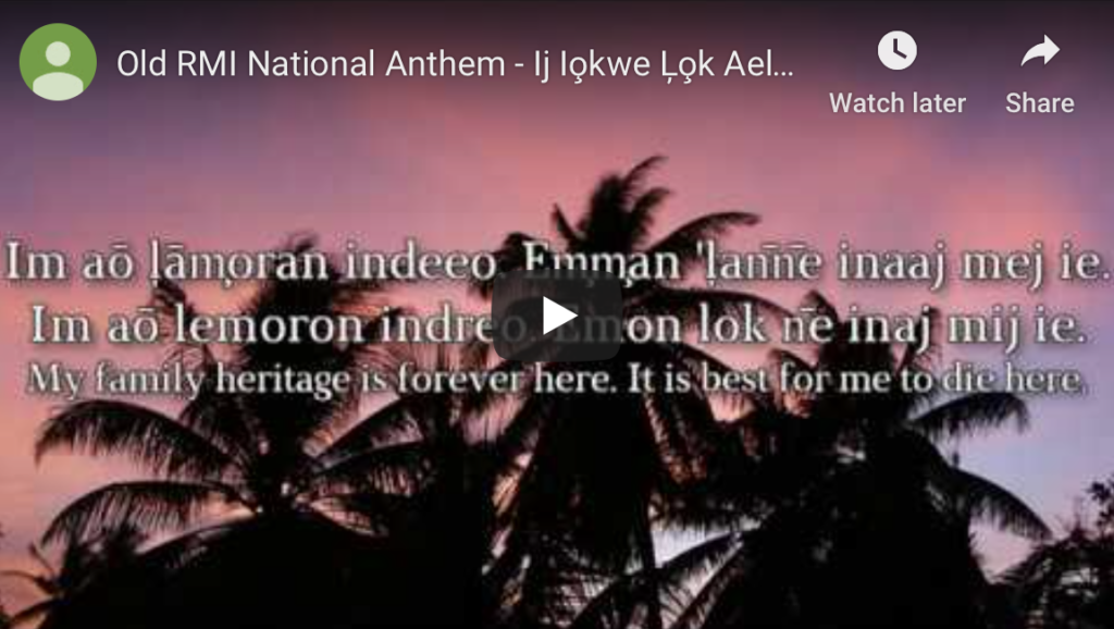 Link to National Anthem on YouTube